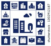 apartment icon set. 17 filled... | Shutterstock .eps vector #1302912187