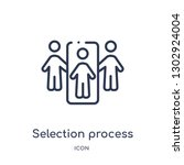 linear selection process icon... | Shutterstock .eps vector #1302924004