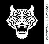 tiger head. vector illustration ... | Shutterstock .eps vector #1302929551