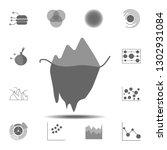 iceberg chart icon. simple...