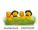 chicks in a row | Shutterstock . vector #130293239