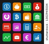 money icon and finance icon set ... | Shutterstock .eps vector #1302945034