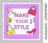 accessory shop social media... | Shutterstock .eps vector #1302949984