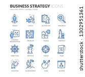 simple set of business strategy ... | Shutterstock .eps vector #1302951361
