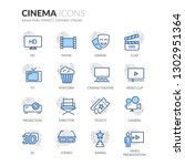 simple set of cinema related... | Shutterstock .eps vector #1302951364