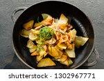 home cooking concept. potato...   Shutterstock . vector #1302967771