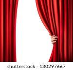background with red velvet... | Shutterstock .eps vector #130297667
