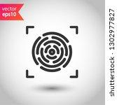 scan vector icon. fingerprint... | Shutterstock .eps vector #1302977827