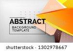 3d geometric triangular shapes... | Shutterstock .eps vector #1302978667