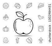 an apple icon. simple outline...