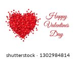 valentines day banner  vector... | Shutterstock .eps vector #1302984814