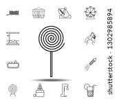 lollypop  icon. simple outline...