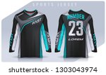 t shirt sport design template ... | Shutterstock .eps vector #1303043974
