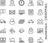 thin line icon set   baggage... | Shutterstock .eps vector #1303059361