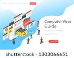 isometric flat vector landing... | Shutterstock .eps vector #1303066651