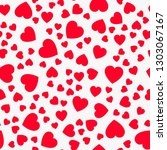 love seamless pattern with red... | Shutterstock .eps vector #1303067167