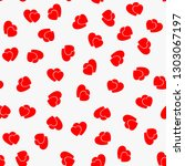 love seamless pattern with red... | Shutterstock .eps vector #1303067197