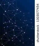 gometric plexus structure... | Shutterstock .eps vector #1303077454