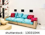 big and modern living area with ... | Shutterstock . vector #13031044