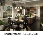 elegant dinning room  kitchen... | Shutterstock . vector #130312931
