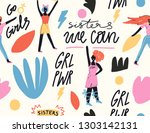 vector handdrawn pattern.... | Shutterstock .eps vector #1303142131