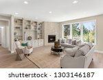beautiful furnished living room ... | Shutterstock . vector #1303146187