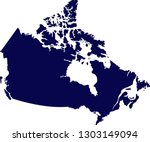 a map of canada  simple... | Shutterstock .eps vector #1303149094