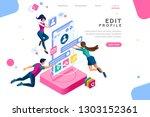 workspace for workers ... | Shutterstock . vector #1303152361