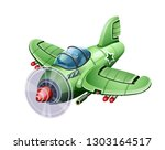 military aircraft fighter.... | Shutterstock .eps vector #1303164517
