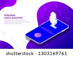 personal assistant and voice... | Shutterstock .eps vector #1303169761