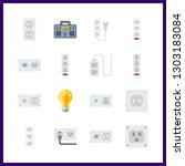 16 switch icon. vector... | Shutterstock .eps vector #1303183084