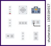 9 switch icon. vector... | Shutterstock .eps vector #1303184317