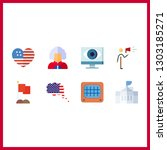 8 government icon. vector...   Shutterstock .eps vector #1303185271