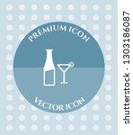 wine glass   bottle icon for... | Shutterstock .eps vector #1303186087