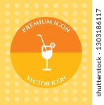 wine glass icon for web ... | Shutterstock .eps vector #1303186117