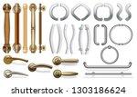 a set of door handles for doors ... | Shutterstock .eps vector #1303186624