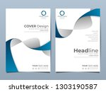 blue corporate identity cover... | Shutterstock .eps vector #1303190587