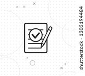 document  vector best line icon ... | Shutterstock .eps vector #1303194484