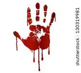 bloody hand print. raster... | Shutterstock . vector #130319981