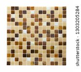 square background wall mosaic...   Shutterstock . vector #1303205284