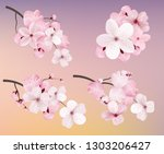 beautiful blossoming dark and... | Shutterstock .eps vector #1303206427