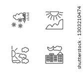linear frost  cloudy  sun ... | Shutterstock .eps vector #1303210474
