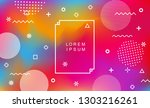 abstract holographic background ... | Shutterstock .eps vector #1303216261