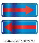 detour signs 2 | Shutterstock .eps vector #130322237