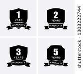 1  2  3 and 5 years warranty... | Shutterstock .eps vector #1303222744