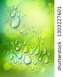 water rain drops or... | Shutterstock .eps vector #1303227601