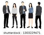 set of silhouettes of men and... | Shutterstock .eps vector #1303229671