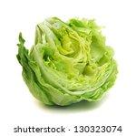 fresh iceberg salad isolated on ... | Shutterstock . vector #130323074