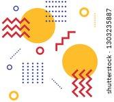 geometrical colourful pattern...   Shutterstock . vector #1303235887