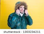 comfortable winter clothing.... | Shutterstock . vector #1303236211